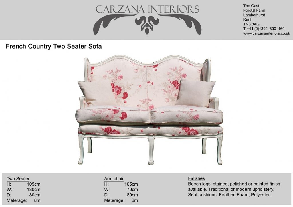 Painted showwood two seater sofa.