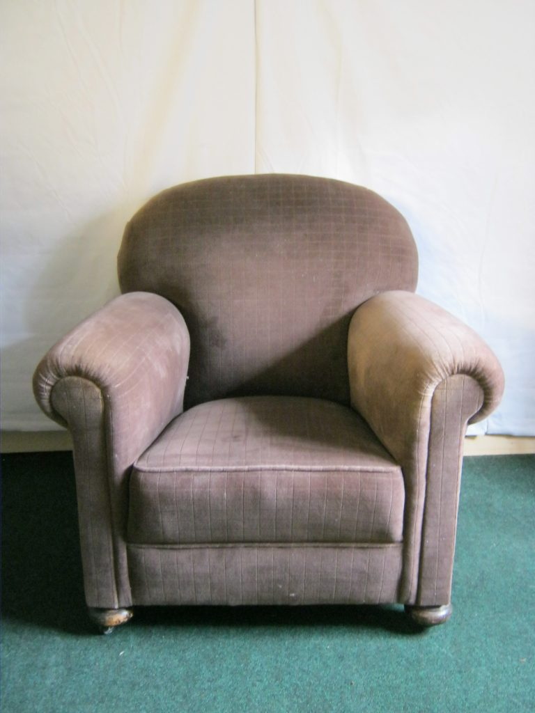 Pair of Traditionally upholstered arm chairs