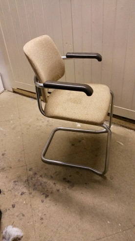 Retro steel framed dining/office chair.