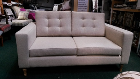 two seater manhatten sofa, in stone wool.