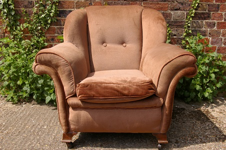 Art Deco armchair. To be recovered in your choice of fabric. (pair available.)