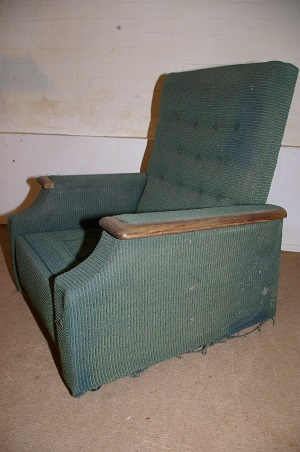 original art deco recliner chair, ready to be recovered in your choice of fabric.