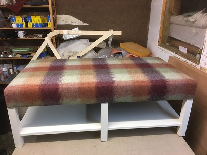 new model table stool, with under shelf.