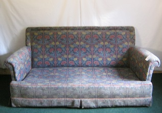 quality modern sofa with deep sprung seat, awaiting a little tlc, and your choice of fabric.