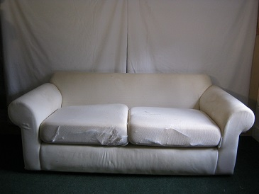 modern sofa to be loose covered or upholstered. (has back cushions) pair of sofas available.