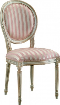 French style dining chair, also available with arms.