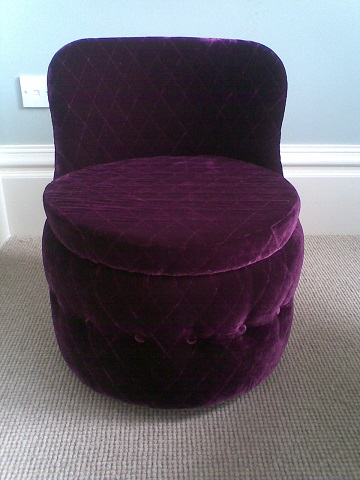 Small tub bedroom chair, can be made to order.