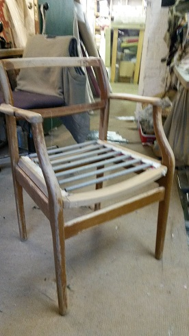 mid century chair frame, ready for restoration, in your choice of fabric.