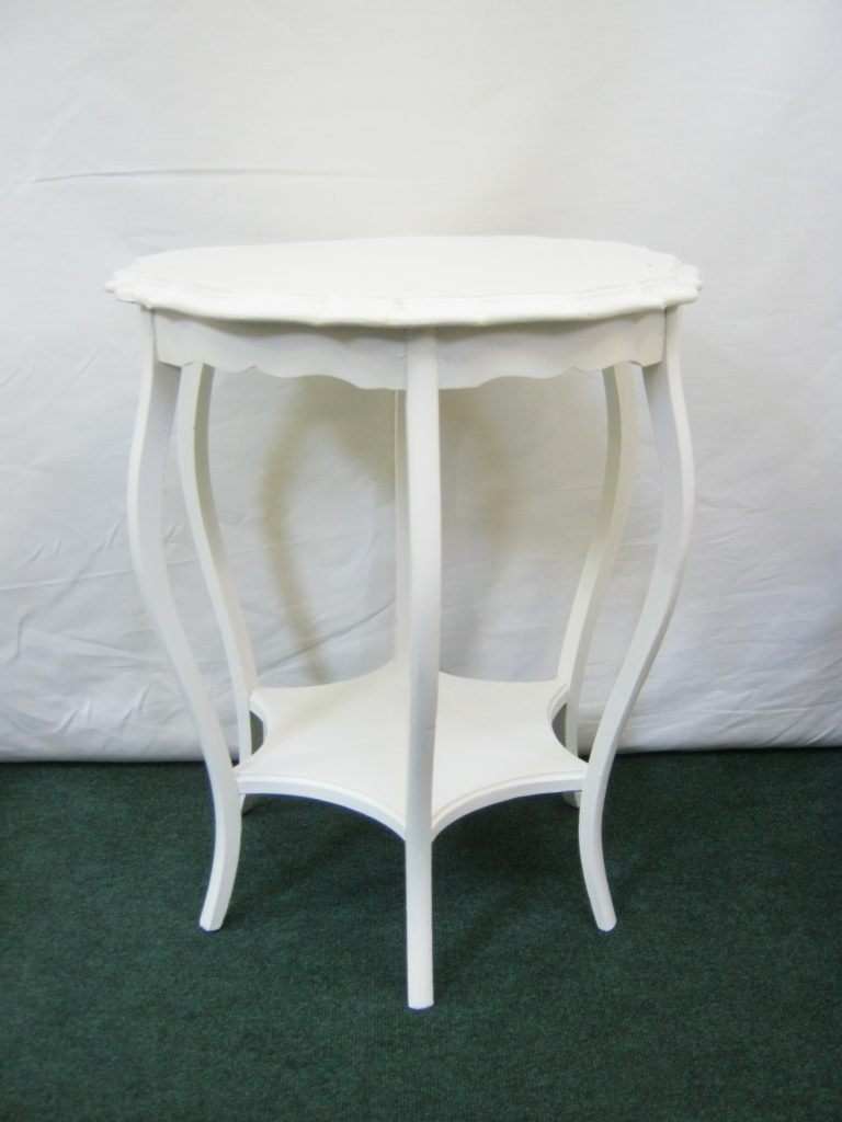 French painted side table.