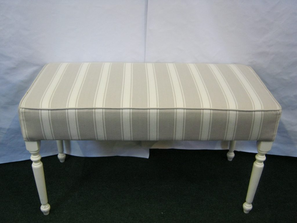Footstool with turned legs