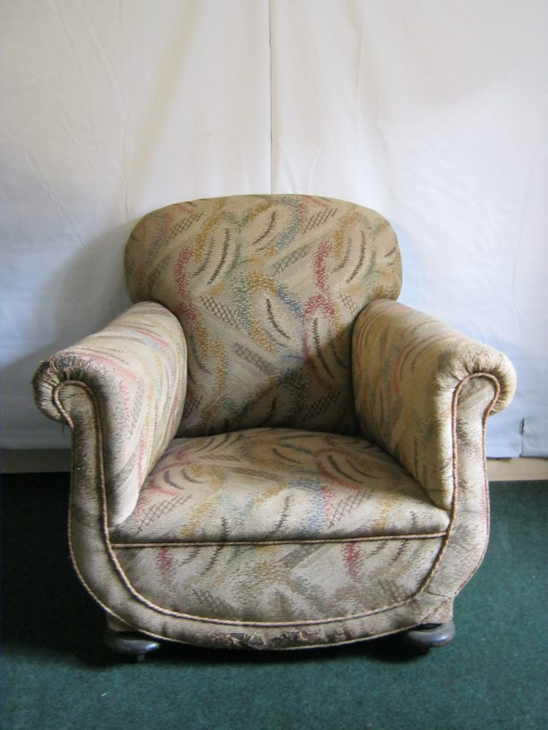 Pair of art deco arm chairs (sofa available)
