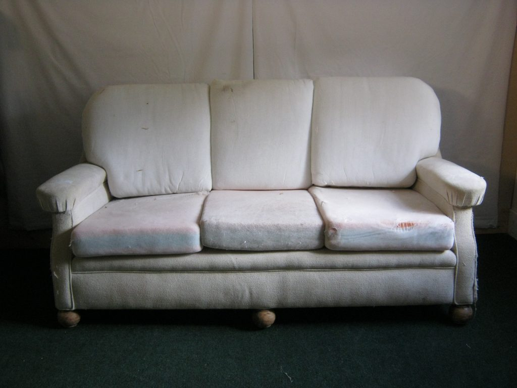 3 Seater club sofa 1930s/40s (wing armchair to match this in chairs for restoration.)