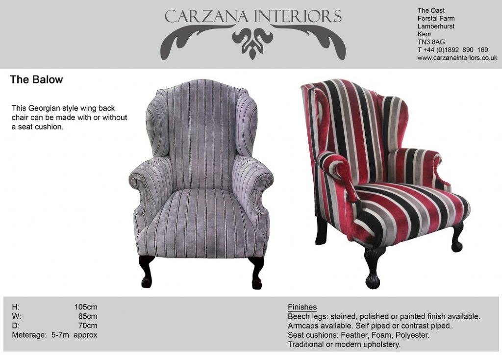 Balow wing chair.