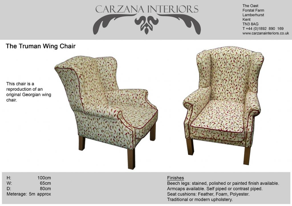 Truman wing chair.