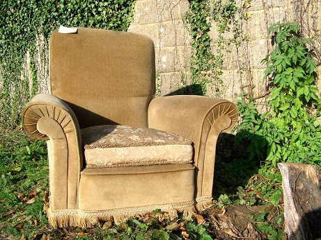 Pair of traditional arm chairs for restoration.