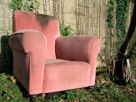 club style armchair, for restoration. (pair available)