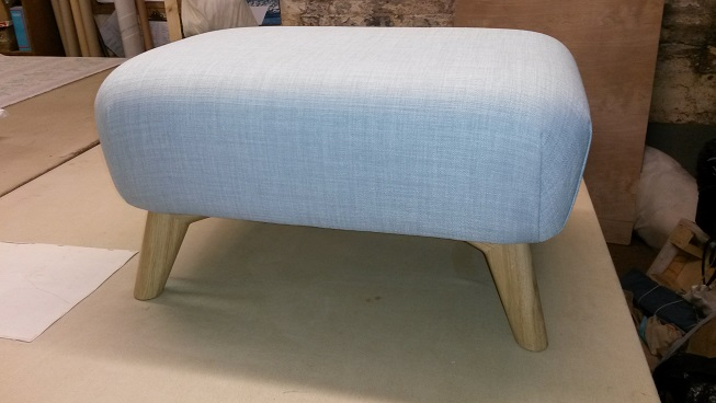 retro style footstool made to order.