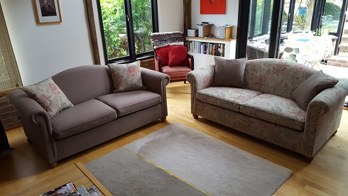 pair of sofas.