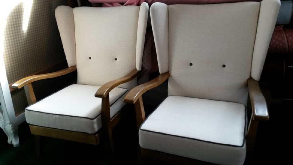 A pair of 1960's arm chairs.