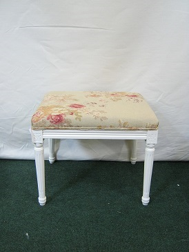 French style painted stool, covered in Edinburgh weavers.
