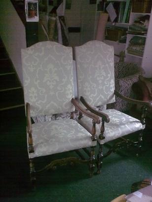 Wainscott style chairs (pr.)