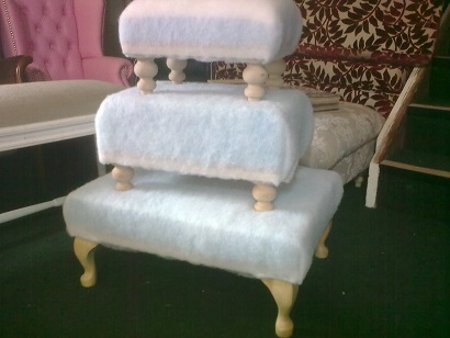 footstools made to order, covered or ready to diy cover. any size.