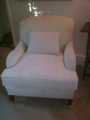 Howard style chair, this one now sold, similar chair available to be covered in your choice of fabric.