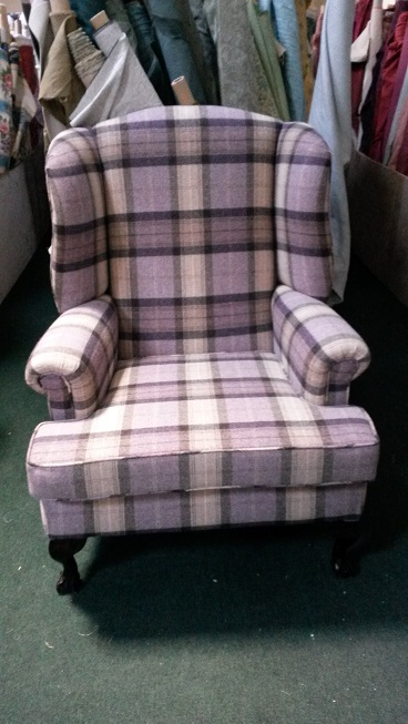 Gents Georgian wing chair, made to order in your choice of fabric.
