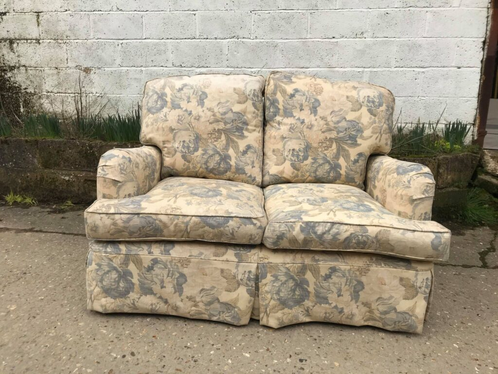 Pair of quality Howard style sofas. currently loose covered, but could be upholstered.